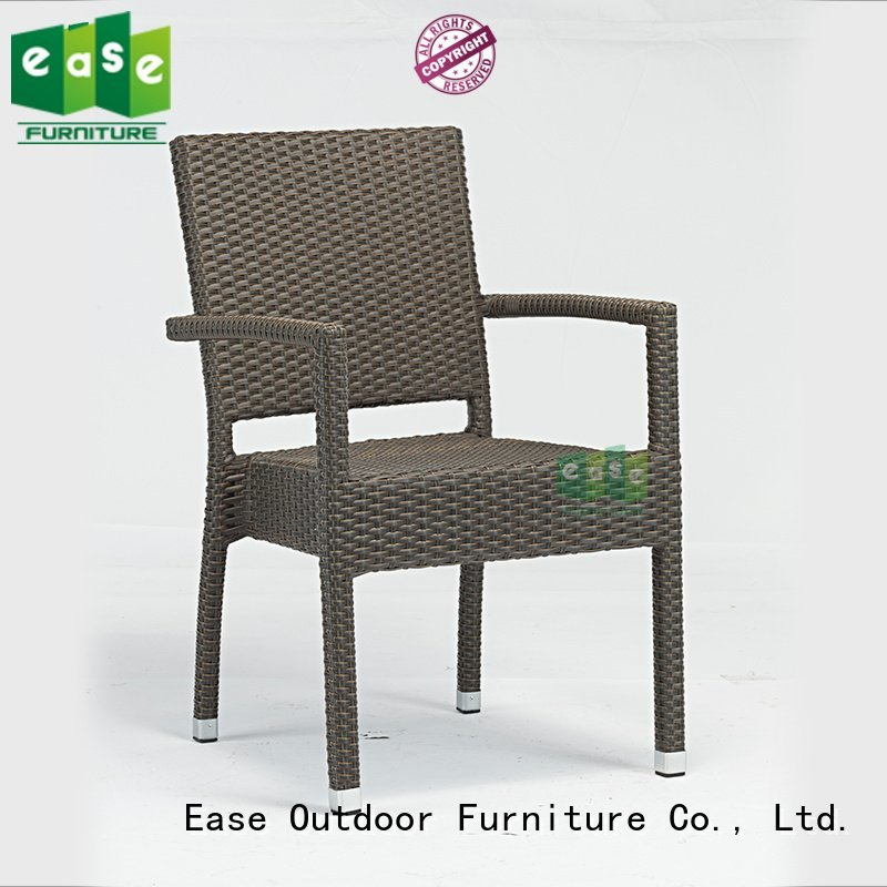rattan cafe chairs arm uvproof EASE Brand