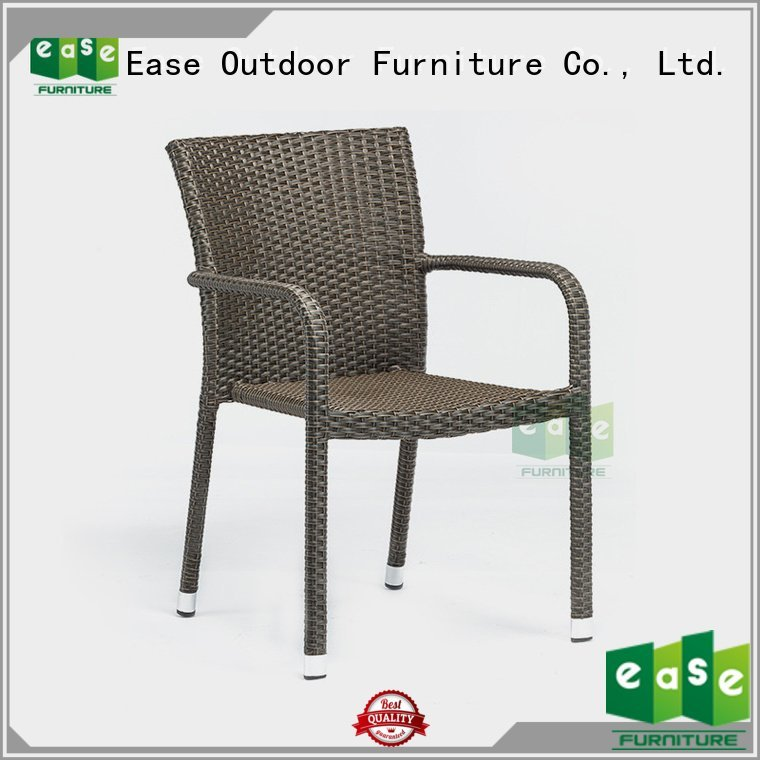EASE price rattan uv rattan cafe chairs plastic