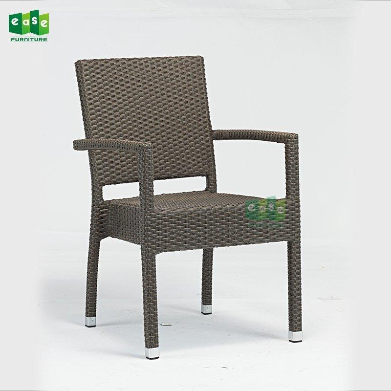 UV-Proof Plastic Rattan Garden Cafe Chair