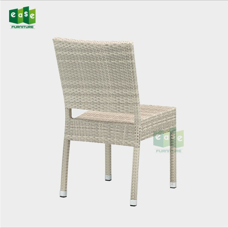 Factory price outdoor rattan woven bistro armless side chair (E1057)