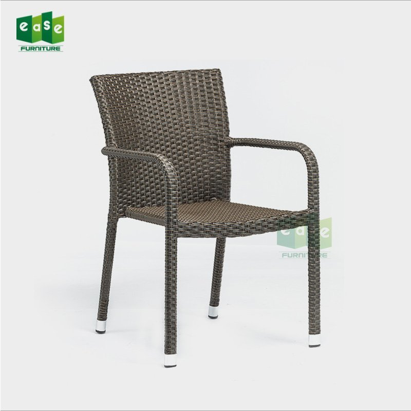 Cheap Price Synthetic Rattan Bistro Arm Chair For Outdoor Cafe (E1126)
