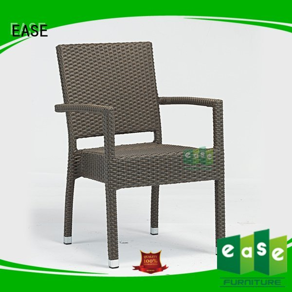 EASE Brand armless garden rattan bistro chairs sale frame