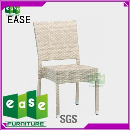 EASE Brand uvproof cafe frame rattan cafe chairs