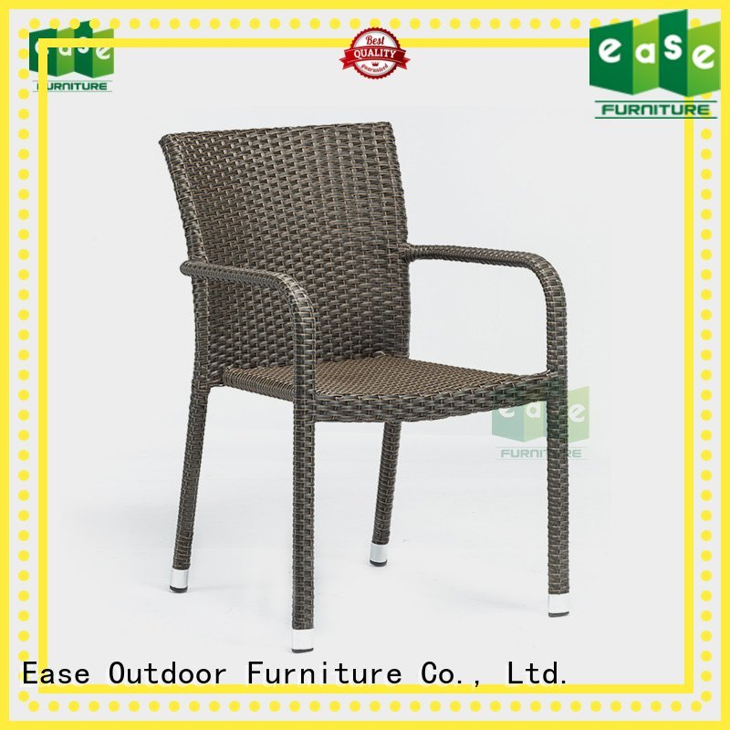 Hot cafe rattan bistro chairs arm side EASE Brand