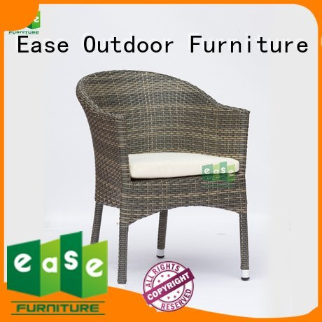 EASE rattan cafe chairs synthetic rattan uv