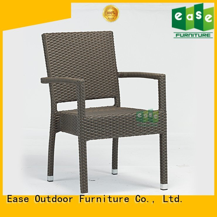 Wholesale plastic stackable rattan bistro chairs EASE Brand