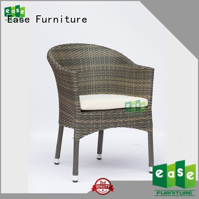 rattan cafe chairs dining design uv woven EASE