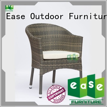 garden cafe EASE Brand rattan cafe chairs factory