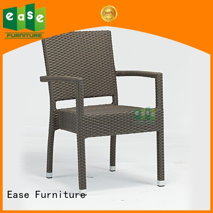 rattan cafe chairs stackable outdoor dining EASE Brand