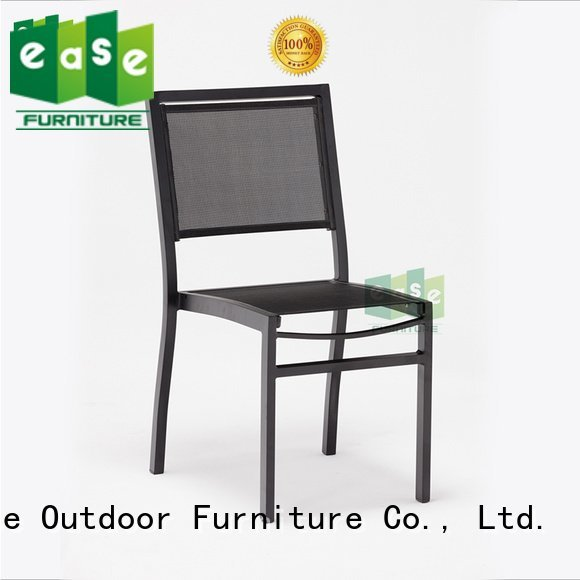 EASE outdoor folding bistro chairs side look wood