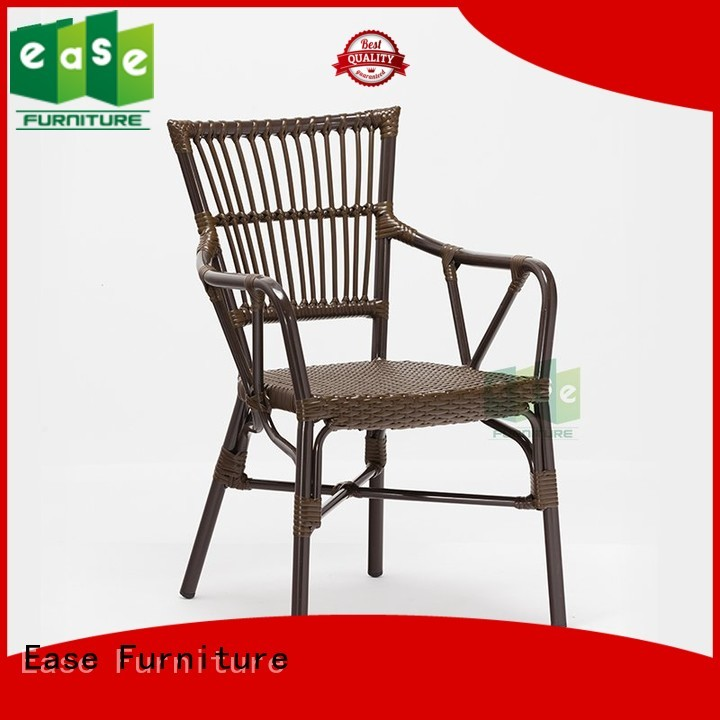 Wholesale rattan aluminum cafe chairs EASE Brand