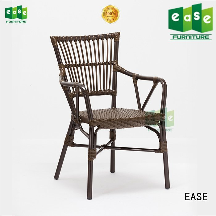 EASE Brand stacking aluminum cafe chairs all weather