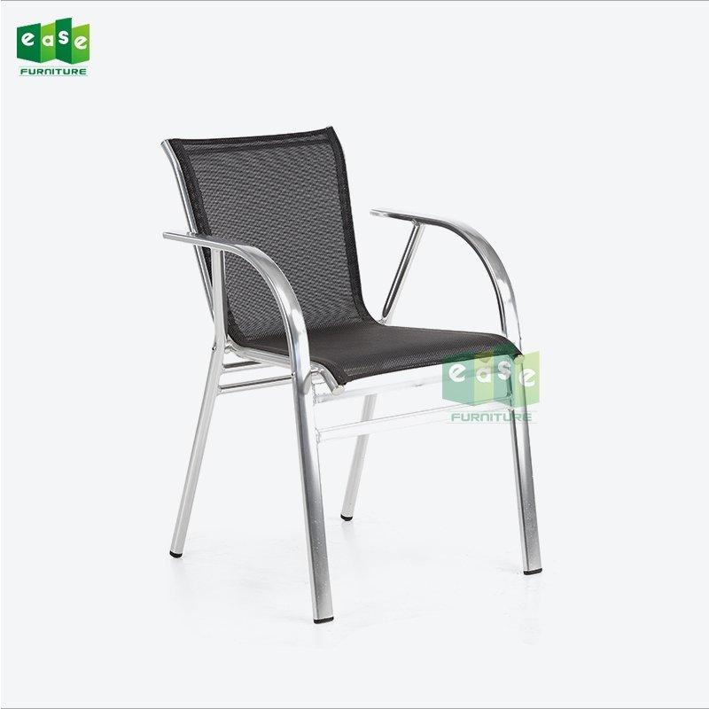 Italian mesh fabric weave outdoor cafe chair (E6036SR)