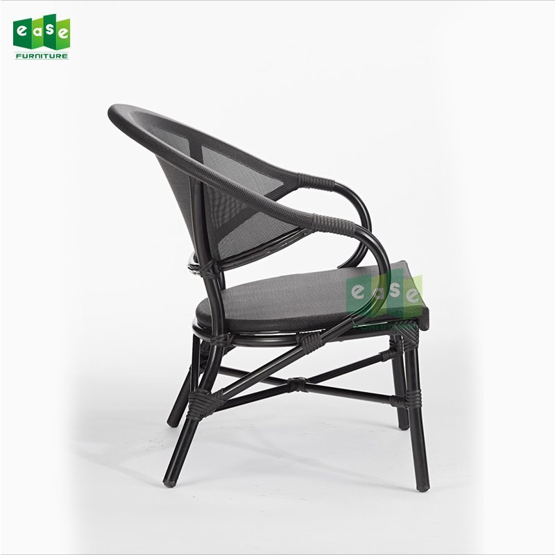 French bistro outdoor mesh fabric lounge chair (E1111)