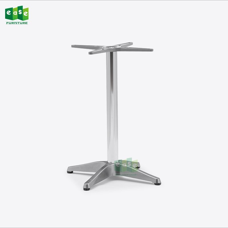 Heavy Duty Polished Surface Aluminum 4 Legs Table Base E9018
