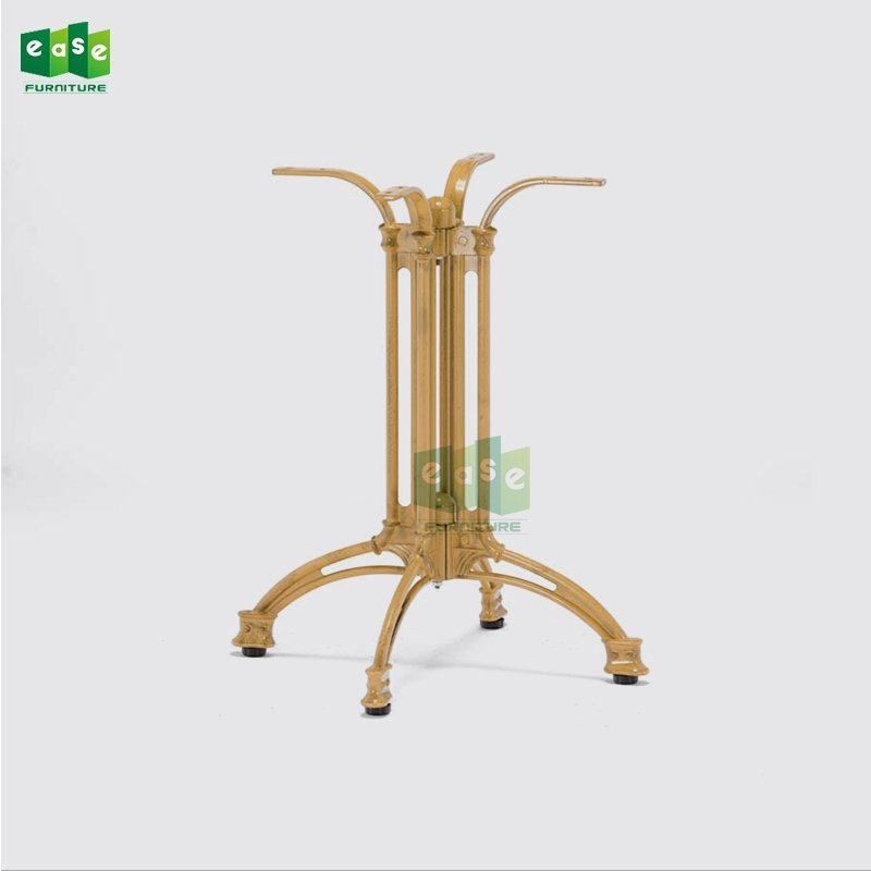 Bamboo Look Cast Aluminum Table Base E9304
