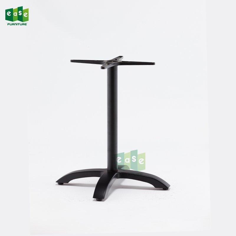 Heavy Duty Aluminum Table Base E9401 matte black with 4 Legs