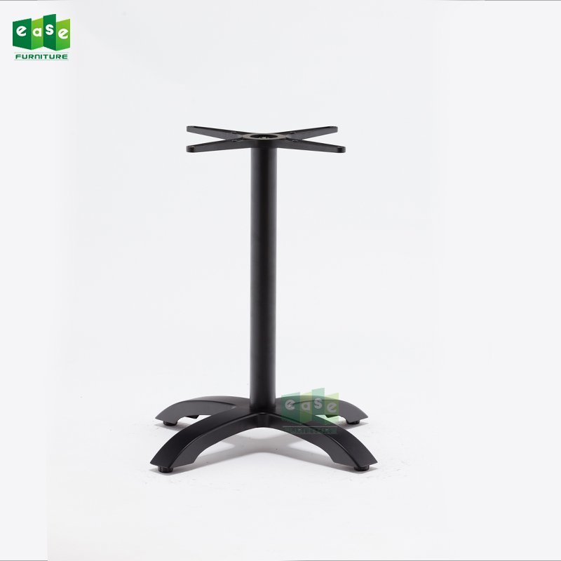 Heavy Duty Aluminum Table Base E9401 matte black with 4 Legs