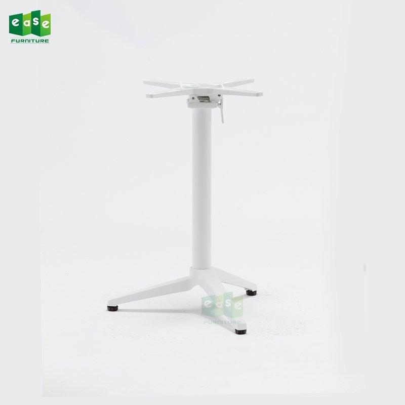 3 Colors Foldable Cafe Aluminum Table Base E9803