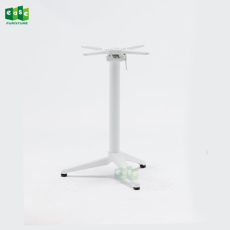 3 Colors Foldable Cafe Aluminum Table Base E9803