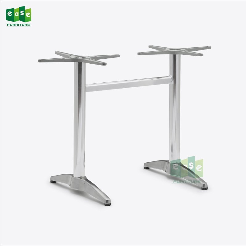 Heavy Duty Polished Aluminum Double Table Base E9833
