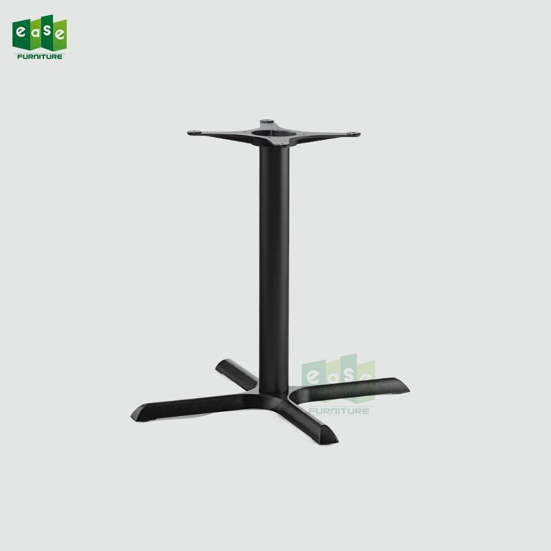 Black color cast iron table base 4legs for restaurant (E9622)