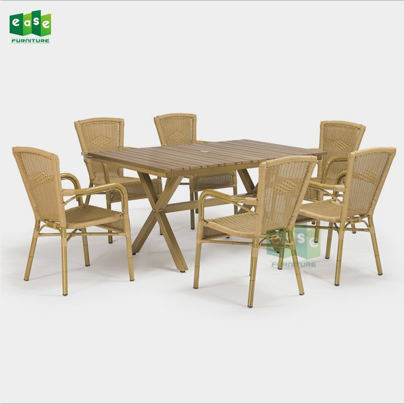 EN581 standard patio furniture wicker dining set (Axel)