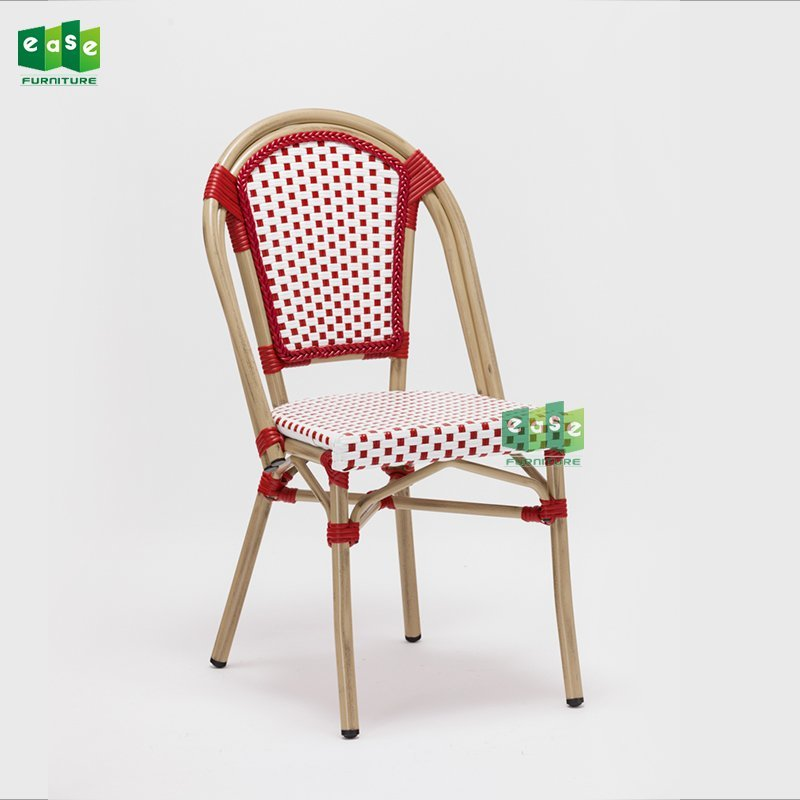 Paris dining side armless chair red color (E6017)