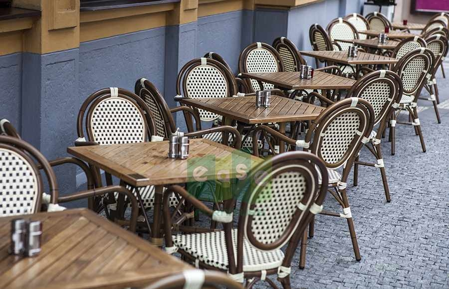 French bistro rattan chair for outdoor cafe