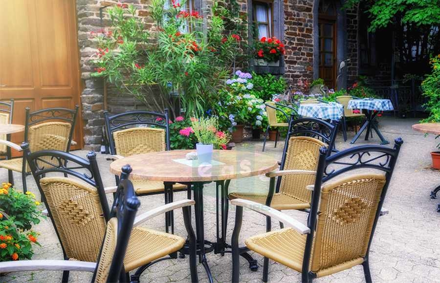 aluminum wicker chair for patio