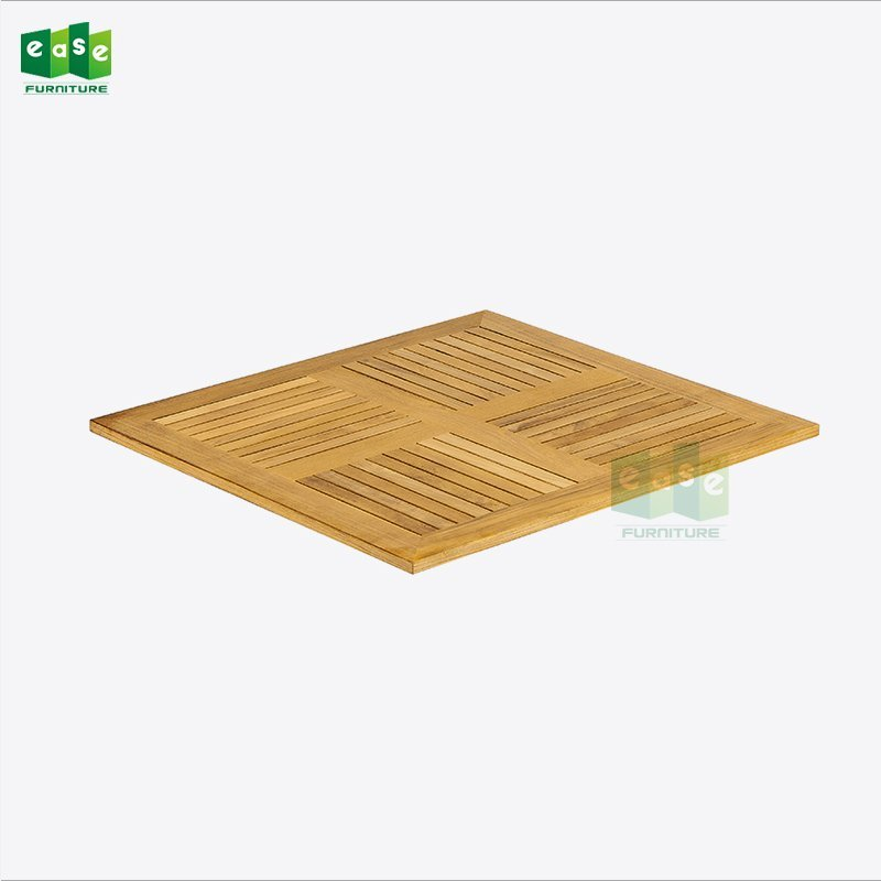 70cm square natural teak wood table top (ET007)