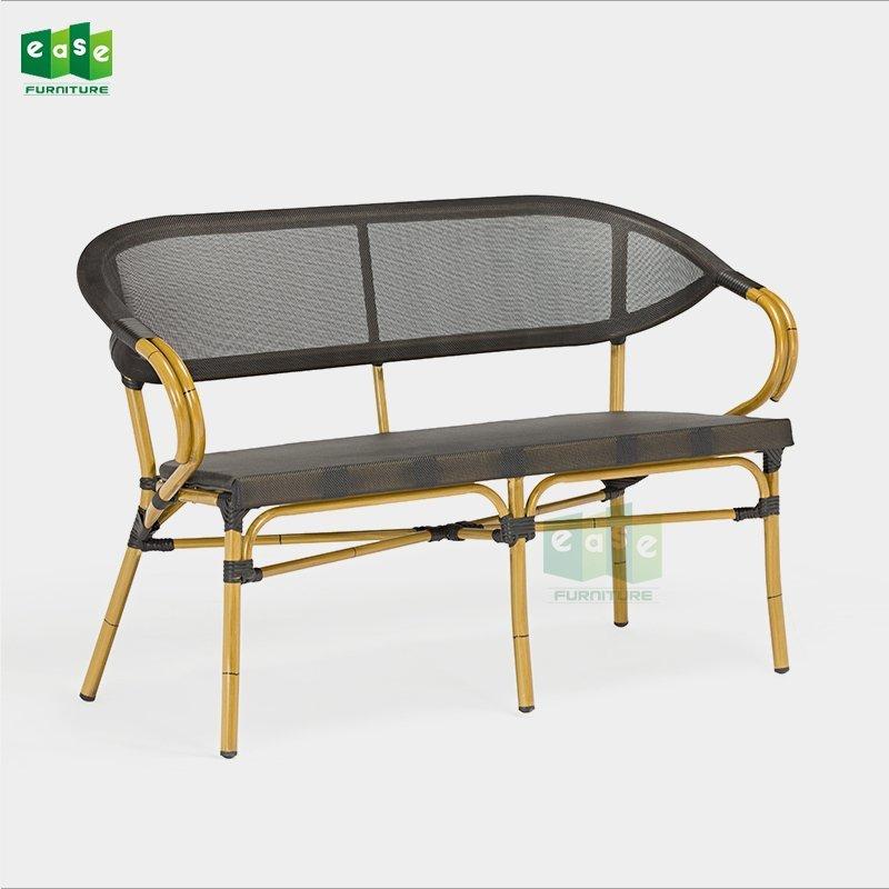 Aluminum frame outdoor mesh fabric bistro sofa (E8029 sofa)
