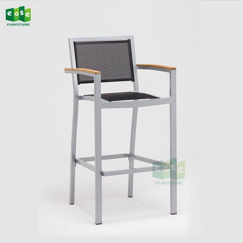 Modern aluminum outdoor mesh fabric bar stool chair (E1101 bar)