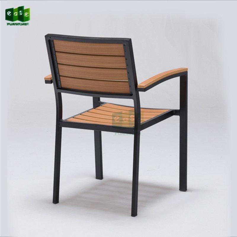 Aluminum frame polywood patio chair for outdoor (E7302)