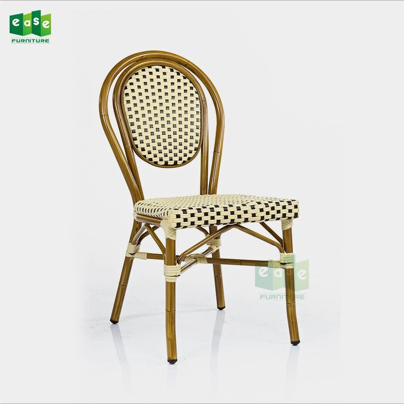 Bamboo look stacking french rattan bistro chairs for sale (E6060)