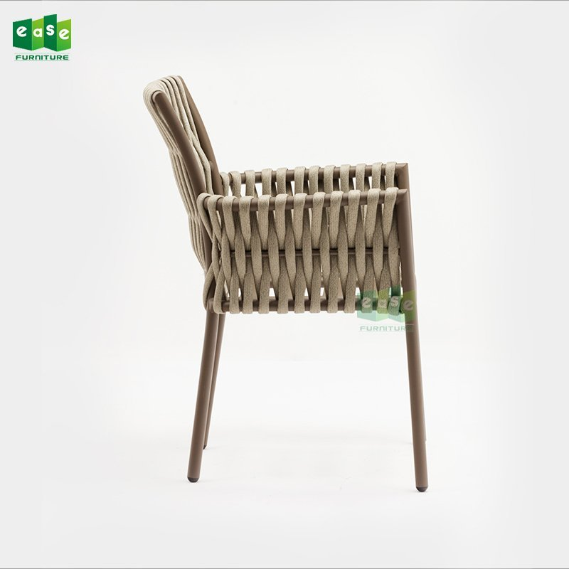 2018 New design aluminum frame PL belt woven outdoor chair (E1403)