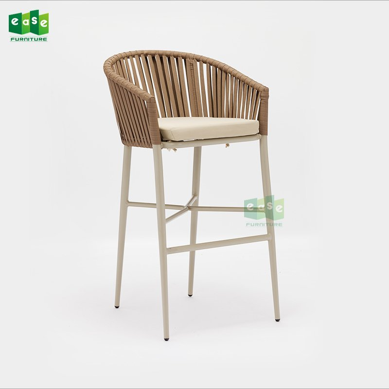New design rope woven outdoor bar chair with armrest (E7083WR bar)