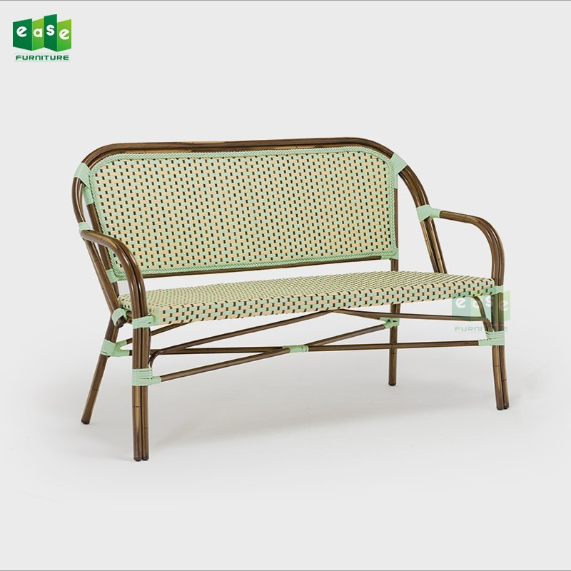 Commercial use outdoor french bistro rattan sofa (E6016 sofa)