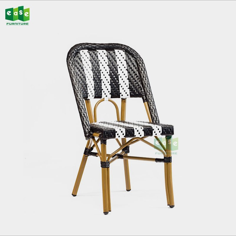 Handmade stacking armless parisian rattan bistro chairs (E3002)