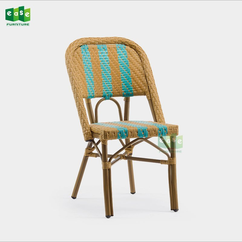 French style all weather synthetic rattan woven dining room chairs (E3002)