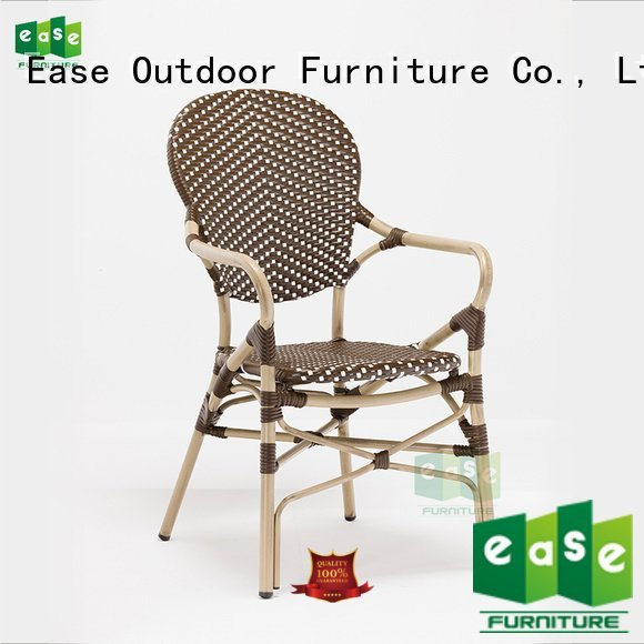 Custom aluminum outdoor bistro chairs cafe bistro armchair
