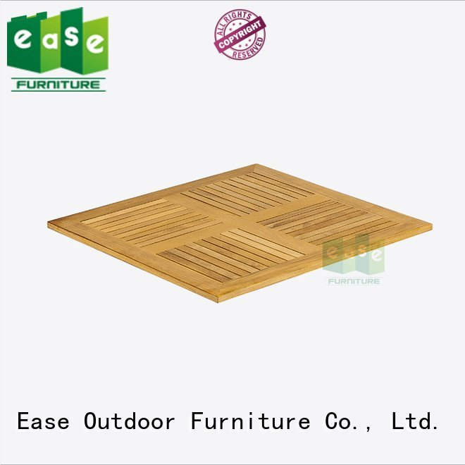 table natural square EASE teak wood table top