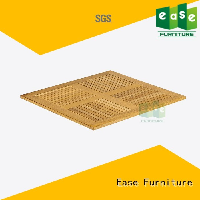 teak Custom wood top table tops for sale EASE square