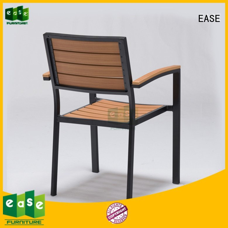 outdoor aluminum frame EASE patio dining chairs