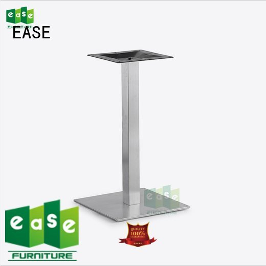 Hot stainless steel dining table base restaurant steel finish EASE Brand
