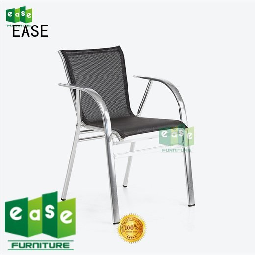 EASE outdoor bistro table and chairs polyester woven mesh frame