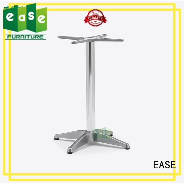 Quality EASE Brand cast aluminum table base colors stackable