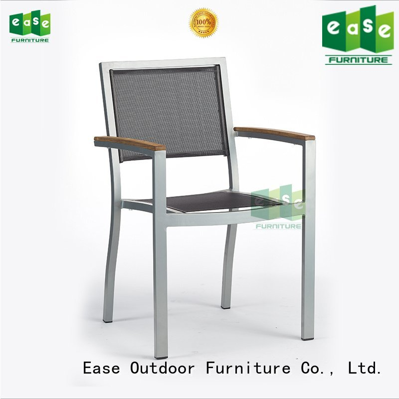 EASE Brand pvc side aluminum outdoor bistro table and chairs