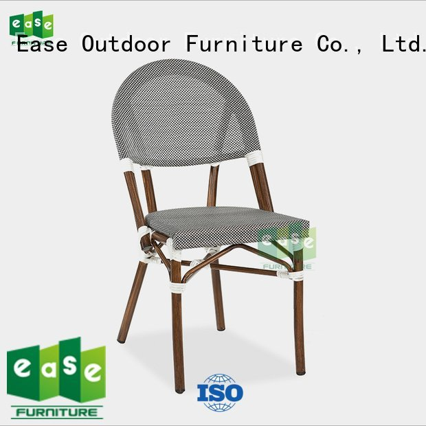 EASE Brand dining shining style outdoor folding bistro chairs