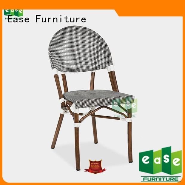 EASE Brand stacking anodizing fabric custom outdoor folding bistro chairs